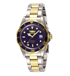 Invicta Diver Watch under $100 Men's Pro Diver 37.5mm Stainless Steel and Gold Tone Watch