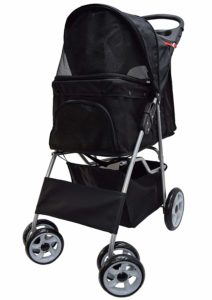 Cat Accessories VIVO Four Wheel Pet Stroller