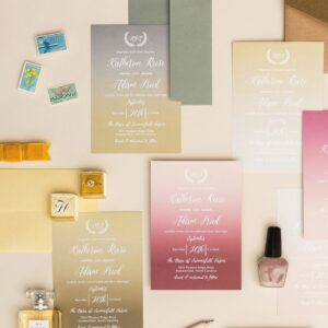 watercolor design for wedding stationery