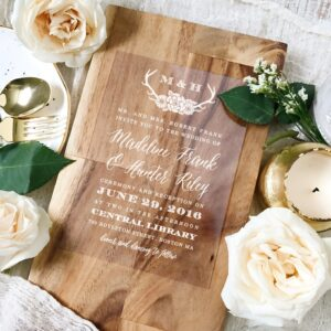 wooden design for wedding cards